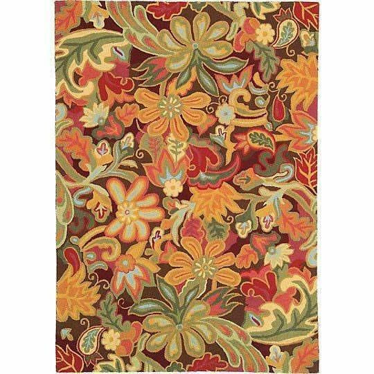 Company C Tapestry 100% Wool Hand-Hooked Rug, Spice-Rugs-Company C-3' x 5'-Heaven's Gate Home
