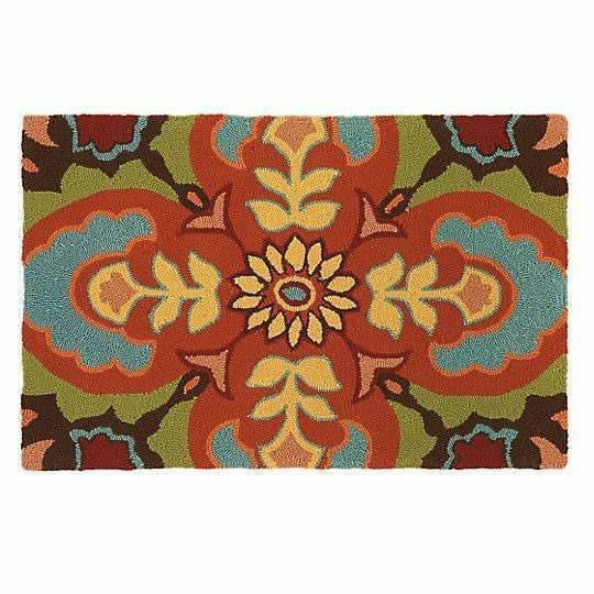 Company C Talavera 100% Polypropylene Hand-Hooked Rug, Indoor/Outdoor-Rugs-Company C-2' x 3'-Heaven's Gate Home
