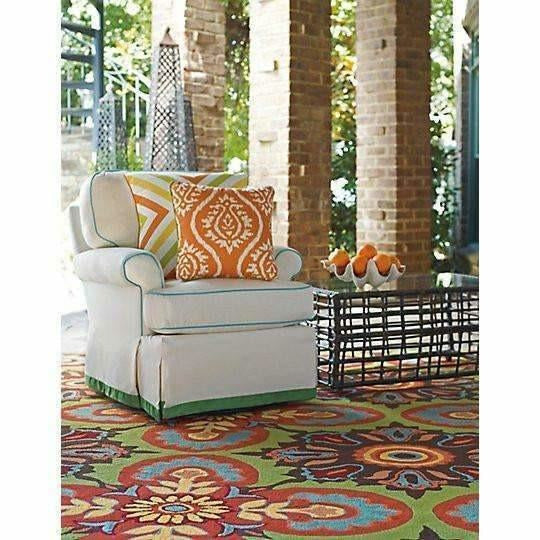 Company C Talavera 100% Polypropylene Hand-Hooked Rug, Indoor/Outdoor-Rugs-Company C-Heaven's Gate Home