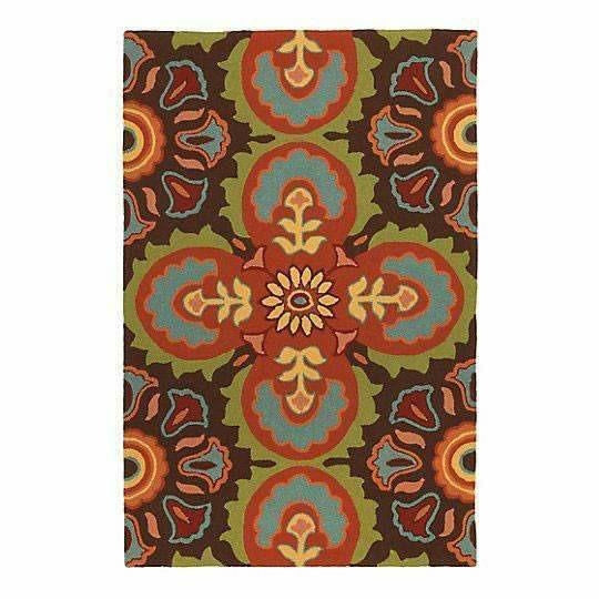Company C Talavera 100% Polypropylene Hand-Hooked Rug, Indoor/Outdoor-Rugs-Company C-4' x 6'-Heaven's Gate Home