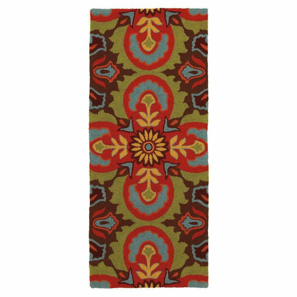 Company C Talavera 100% Polypropylene Hand-Hooked Rug, Indoor/Outdoor-Rugs-Company C-3' x 8' Runner-Heaven's Gate Home