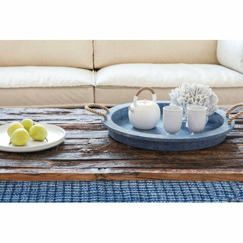 Regina Andrew Aegean Resin Serving Tray, Indigo