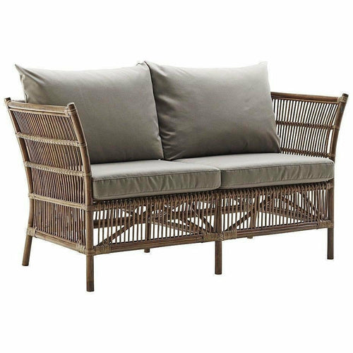 Sika-Design Originals Donatello 2-Seater Sofa w/ Cushion, Indoor-Sofas-Sika Design-Antique-Sailcloth Seagull Seat and Back Cushion-Heaven's Gate Home