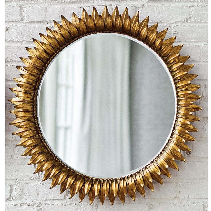 Regina Andrew Sun Flower Mirror Small, Antique Gold-Mirrors-Regina Andrew-Heaven's Gate Home
