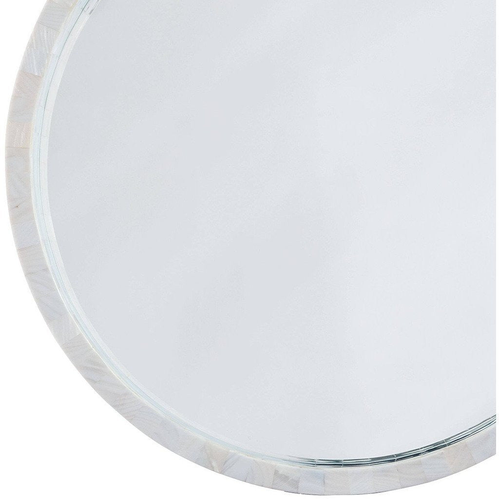 Regina Andrew Mother of Pearl Mirror Large-Mirrors-Regina Andrew-Heaven's Gate Home