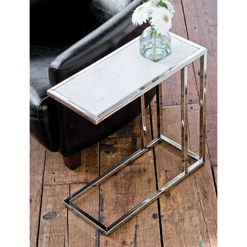 Regina Andrew Echelon Sofa Hugger Table, Nickel Finish-Sofas-Regina Andrew-Heaven's Gate Home