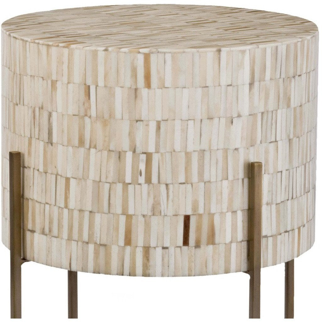 Regina Andrew Bone Drum Table (Antique Brass) - Heaven's Gate Home & Garden