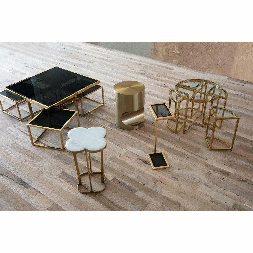 Regina Andrew Nathan Side Table, Brass-Side Tables-Regina Andrew-Heaven's Gate Home