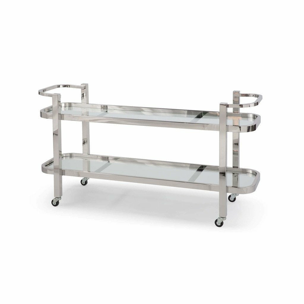 Regina Andrew Carter Bar Cart (Polished Stainless Steel)-1