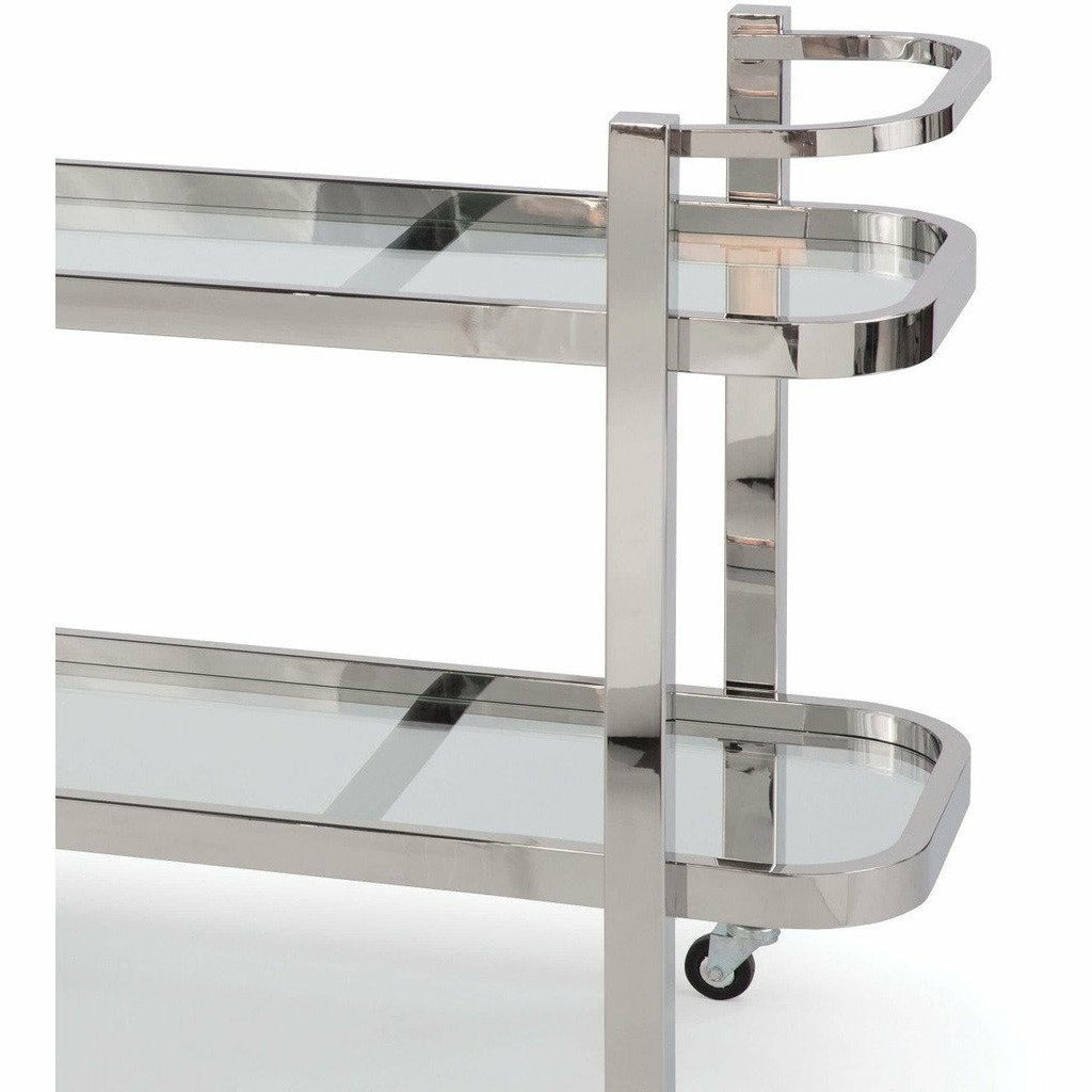 Regina Andrew Carter Bar Cart (Polished Stainless Steel) - Heaven's Gate Home & Garden