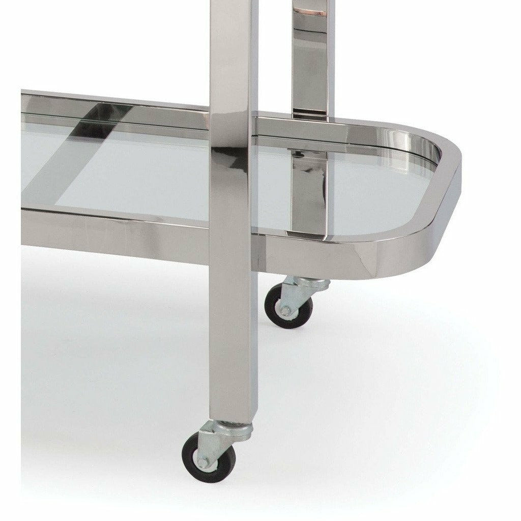 Regina Andrew Carter Bar Cart (Polished Stainless Steel)-4