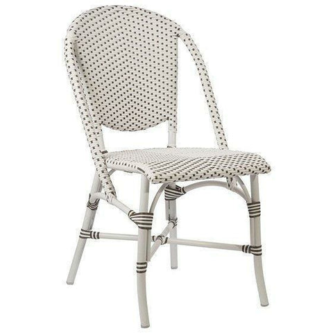 Sika-Design Alu Affaire Sofie White Aluminum Dining Side Chair, Outdoor