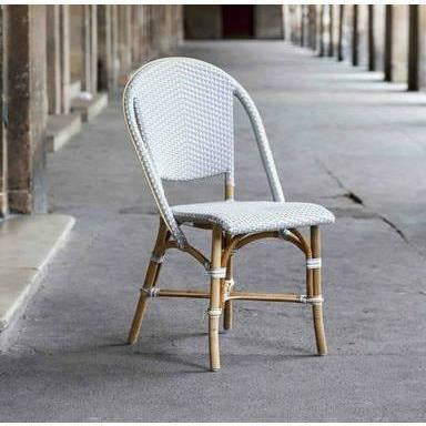 Sika-Design Affaire Sofie Rattan Side Bistro Chair, Stackable, Indoor/Covered Outdoor-Dining Chairs-Sika Design-Heaven's Gate Home, LLC