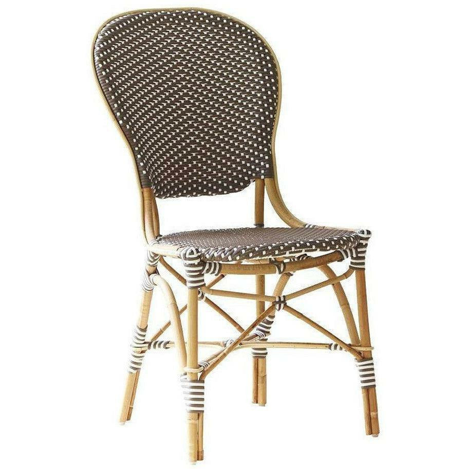 Sika-Design Affaire Isabell Rattan Bistro Side Chair, Stackable, Indoor/Covered Outdoor-Dining Chairs-Sika Design-Cappuccino / White Dots-Heaven's Gate Home