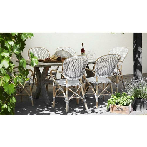 Sika-Design Affaire Isabell Bistro Stacking Arm Chair, Indoor/Covered Outdoor-Dining Chairs-Sika Design-Heaven's Gate Home, LLC