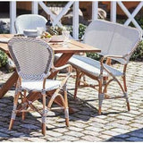 Sika-Design Affaire Isabell Bistro Stacking Arm Chair, Indoor/Covered Outdoor-Dining Chairs-Sika Design-Heaven's Gate Home