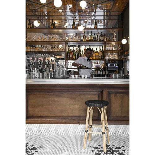 Sika-Design Affaire Simone Rattan Bar Stool, Stackable, Indoor/Covered Outdoor-Bar Stools-Sika Design-Heaven's Gate Home