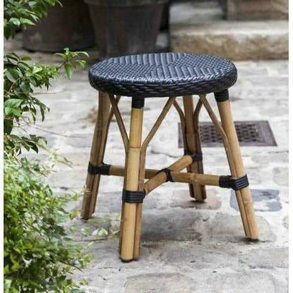 Sika-Design Affaire Simon Rattan Dining Stool, Stackable, Indoor/Covered Outdoor-Stools-Sika Design-Heaven's Gate Home, LLC