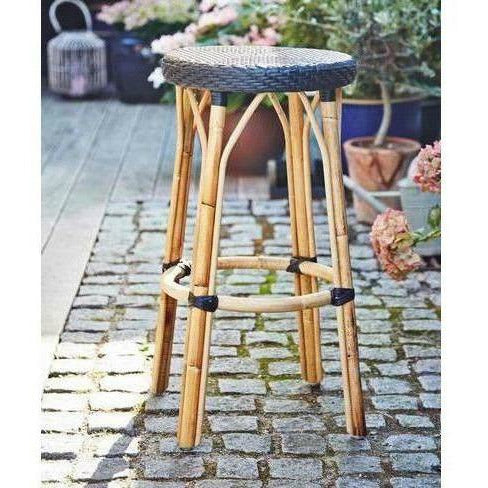 Sika-Design Affaire Simone Rattan Bar Stool, Stackable, Indoor/Covered Outdoor-Bar Stools-Sika Design-Heaven's Gate Home, LLC