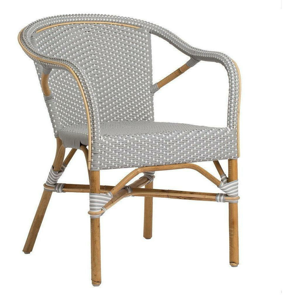 Sika-Design Affaire Madeleine Bistro Arm Chair, Stackable, Indoor/Covered Outdoor-Dining Chairs-Sika Design-Grey / White Dots-Heaven's Gate Home