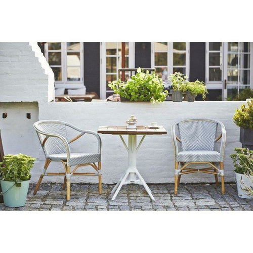 Sika-Design Affaire Madeleine Bistro Arm Chair, Stackable, Indoor/Covered Outdoor-Dining Chairs-Sika Design-Heaven's Gate Home, LLC