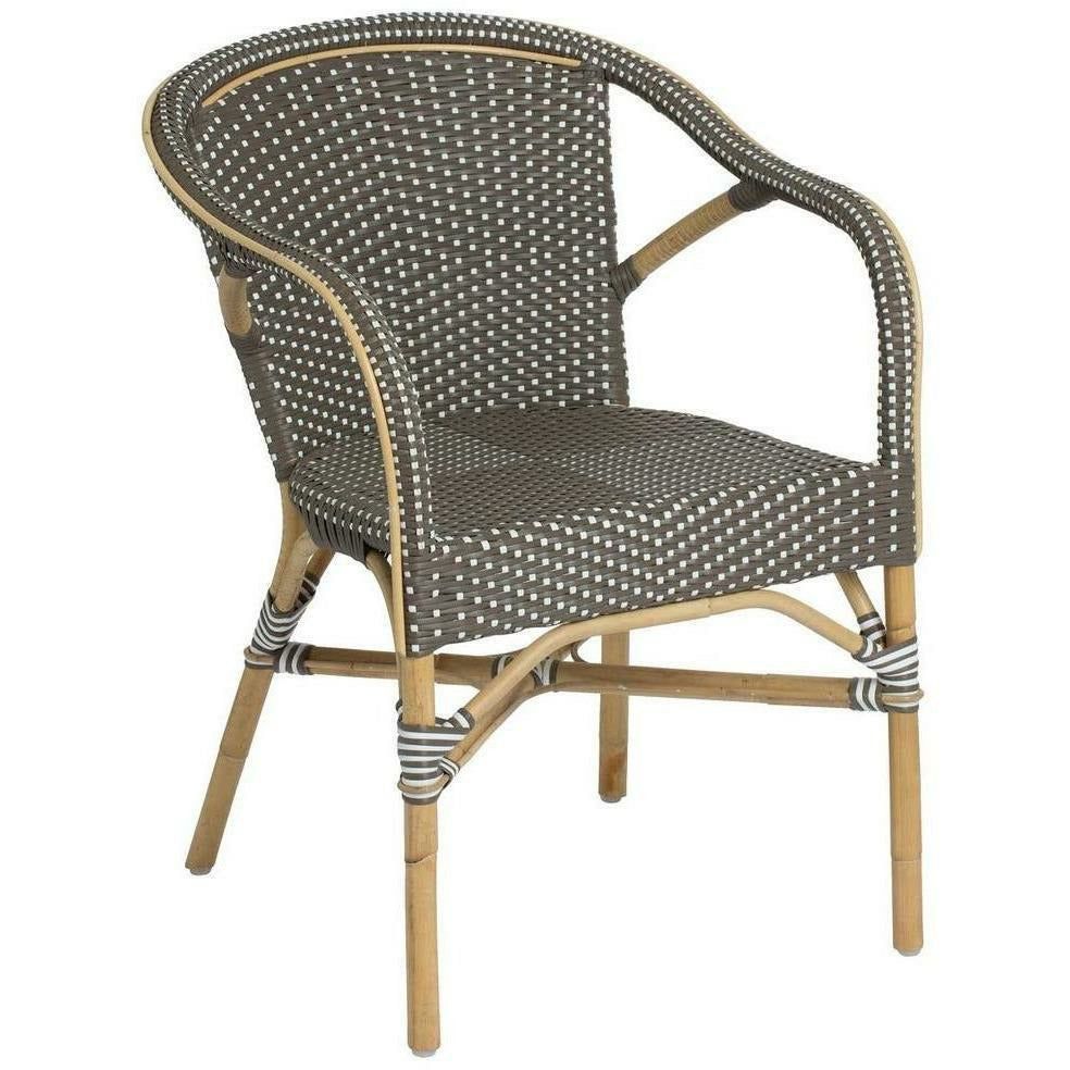Sika-Design Affaire Madeleine Bistro Arm Chair, Stackable, Indoor/Covered Outdoor-Dining Chairs-Sika Design-Cappuccino / White Dots-Heaven's Gate Home
