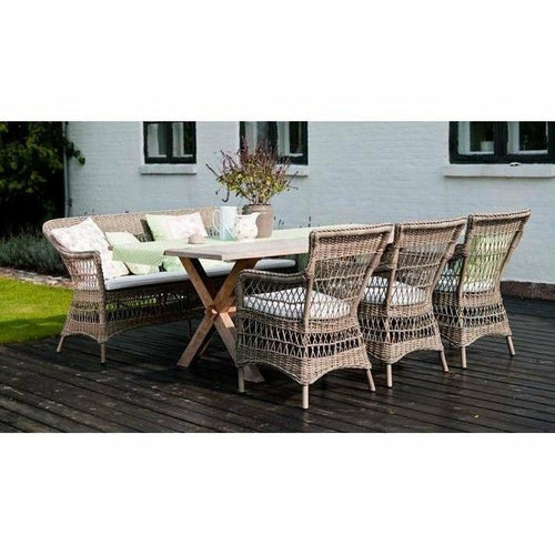 Sika-Design Colonial Teak Long Dining Table, Outdoor-Dining Tables-Sika Design-Heaven's Gate Home