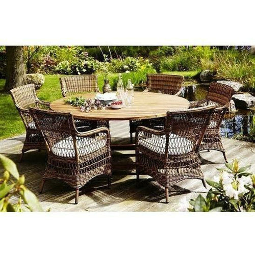 Sika-Design Teak George Round Dining Table, Outdoor-Dining Tables-Sika Design-Heaven's Gate Home, LLC