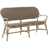 Sika-Design Affaire Isabell Rattan Bench, Indoor/Covered Outdoor-Benches-Sika Design-Cappuccino / White Dots-Heaven's Gate Home