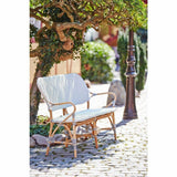 Sika-Design Affaire Isabell Rattan Bench, Indoor/Covered Outdoor-Benches-Sika Design-Heaven's Gate Home