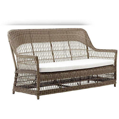 Sika-Design Georgia Garden Dawn-3 Seater w/ Cushion, Outdoor-Sofas-Sika Design-Antique-Polyester Snow White Cushion-Heaven's Gate Home