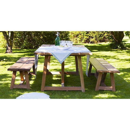 Sika-Design Teak George Bench, Outdoor-Benches-Sika Design-Heaven's Gate Home