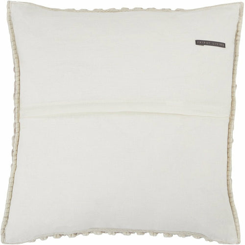 Jaipur Living Madur Angora Light Taupe Handmade Pillow-Pillows-Jaipur Living-Heaven's Gate Home, LLC