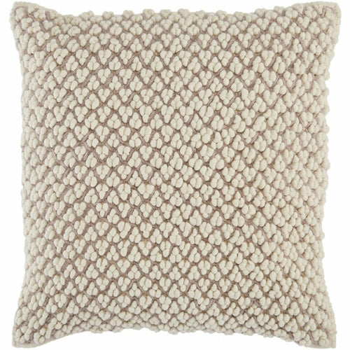 "Jaipur Living Madur Angora Light Taupe Handmade Pillow-Pillows-Jaipur Living-Taupe-22"" x 22""-Down-Heaven's Gate Home, LLC"