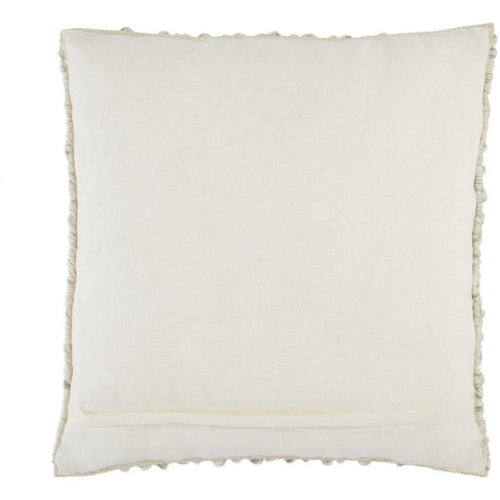 Jaipur Living Kaz Angora Light Gray Handmade Pillow