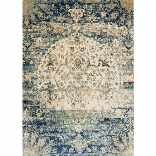 "Loloi Anastasia AF-06 Transitional Power Loomed Area Rug-Rugs-Loloi-Blue-1'-6"" x 1'-6"" Sample-Heaven's Gate Home, LLC"