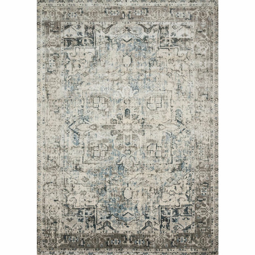 "Loloi Anastasia AF-20 Transitional Power Loomed Area Rug-Rugs-Loloi-Charcoal-1'-6"" x 1'-6"" Sample-Heaven's Gate Home, LLC"