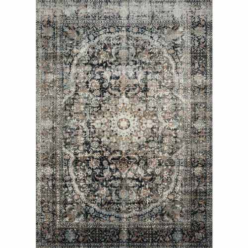 "Loloi Anastasia AF-24 Transitional Power Loomed Area Rug-Rugs-Loloi-Charcoal-1'-6"" x 1'-6"" Sample-Heaven's Gate Home, LLC"