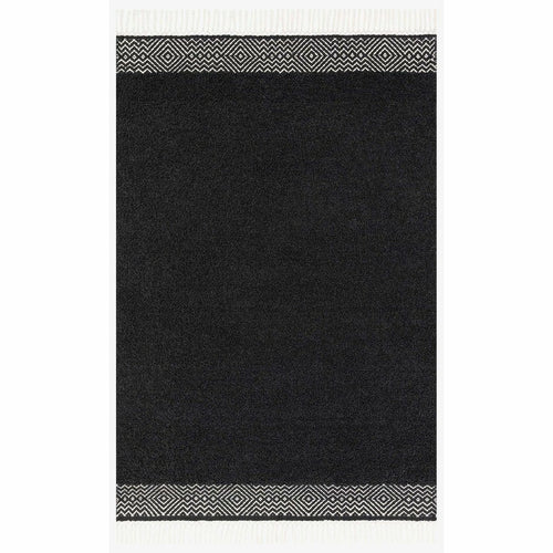 "Justina Blakeney x Loloi Aries ARE-01 Contemporary Hand Woven Area Rug-Rugs-Justina Blakeney x Loloi-Charcoal-1'-6"" x 1'-6""-Heaven's Gate Home, LLC"