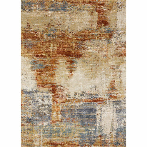 "Loloi Augustus AGS-02 Contemporary Power Loomed Area Rug-Rugs-Loloi-Terracotta-1'-6"" x 1'-6"" Sample-Heaven's Gate Home, LLC"