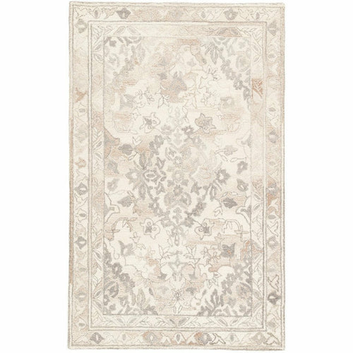 Jaipur Living Bristol Arabia BRI25 Transitional Handmade Area Rug-Rugs-Jaipur Living-White-5'X8'-Heaven's Gate Home, LLC