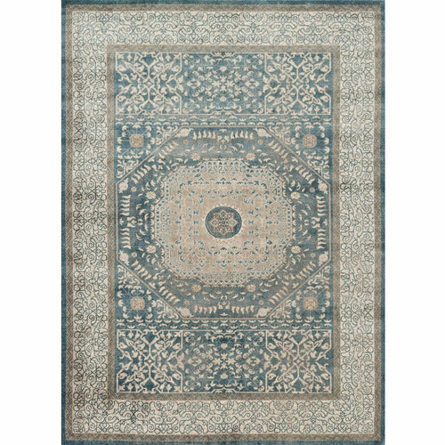 "Loloi Century CQ-01 Transitional Power Loomed Area Rug-Rugs-Loloi-Blue-1'-6"" x 1'-6"" Sample-Heaven's Gate Home, LLC"