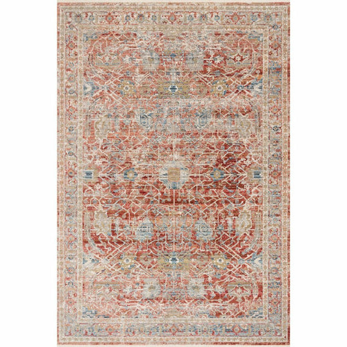 "Loloi Claire CLE-01 Traditional Power Loomed Area Rug-Rugs-Loloi-Red-1'-6"" x 1'-6"" Sample-Heaven's Gate Home, LLC"