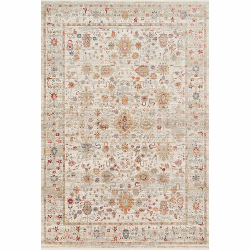 "Loloi Claire CLE-05 Traditional Power Loomed Area Rug-Rugs-Loloi-Multi-1'-6"" x 1'-6"" Sample-Heaven's Gate Home, LLC"