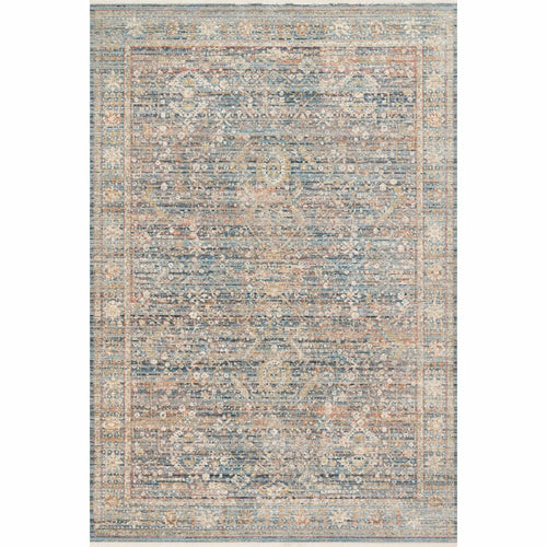 "Loloi Claire CLE-06 Traditional Power Loomed Area Rug-Rugs-Loloi-Blue-1'-6"" x 1'-6"" Sample-Heaven's Gate Home, LLC"