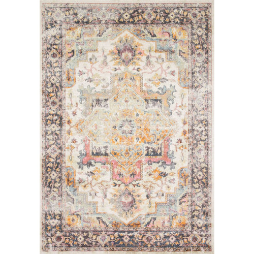 "Loloi Clara CLA-01 Transitional Power Loomed Area Rug-Rugs-Loloi-Ivory-2'-5"" x 7'-7""-Heaven's Gate Home, LLC"