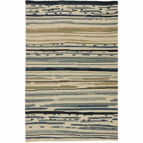 "Lauren Wan by Jaipur Living Colours Sketchy Lines CO08 Contemporary Handmade Area Rug-Rugs-Jaipur Living-Silver-3'6""X5'6""-Heaven's Gate Home, LLC"