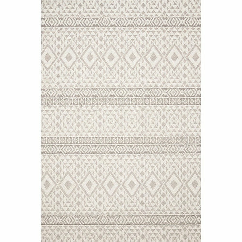 "Loloi Cole COL-04 Indoor/Outdoor Power Loomed Area Rug-Rugs-Loloi-Silver-1'-6"" x 1'-6"" Sample-Heaven's Gate Home, LLC"