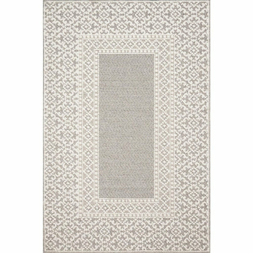 "Loloi Cole COL-05 Indoor/Outdoor Power Loomed Area Rug-Rugs-Loloi-Gray-1'-6"" x 1'-6"" Sample-Heaven's Gate Home, LLC"