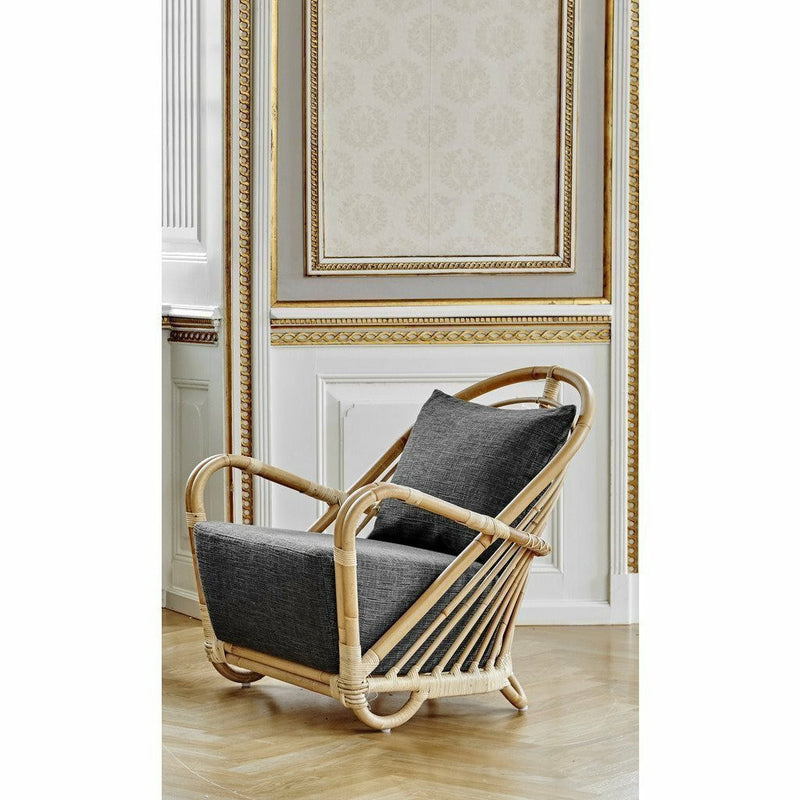 Sika-Design Icons Charlottenborg Chair w/ Cushion, Indoor-Lounge Chairs-Sika Design-Natural-Sunbrella Sailcloth Shade Seat and Back Cushion-Heaven's Gate Home